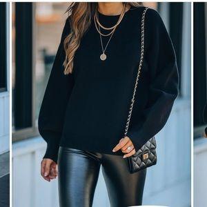Lexa Knit Sweater in Black